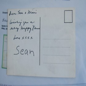 Xmas Card Hand Written by John Lennon for Sean