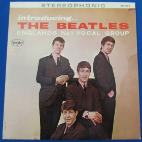 Introducing the Beatles Stereo Ad Back Vee Jay Near Mint