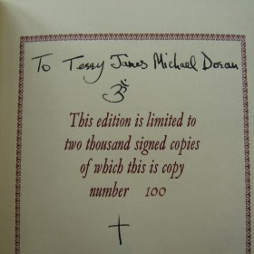 I Me Mine - Genesis Publications George Harrison Signed Book, Personally Inscribed to Terry Doran