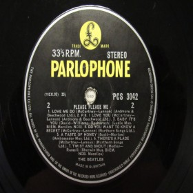 The Beatles Please Please Me Stereo Rare 33 1/3 Label Variation