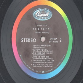 Meet The Beatles Stereo Original USA No BMI or ASCAP Credits ST-2047