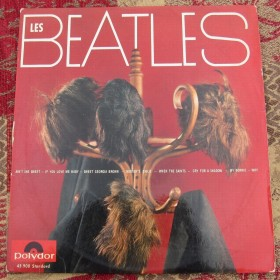 "Les Beatles Wig Cover French 10"" Super Rare Polydor Hamburg Recordings 45900"