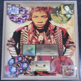 Jimi Hendrix Genuine RIAA Certified Gold Award